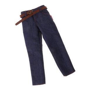 Doll-Outfit-1-6-Pantalon-Jean-Denim-Tenue-Ornement-de-Poupee-D-039-action-Male