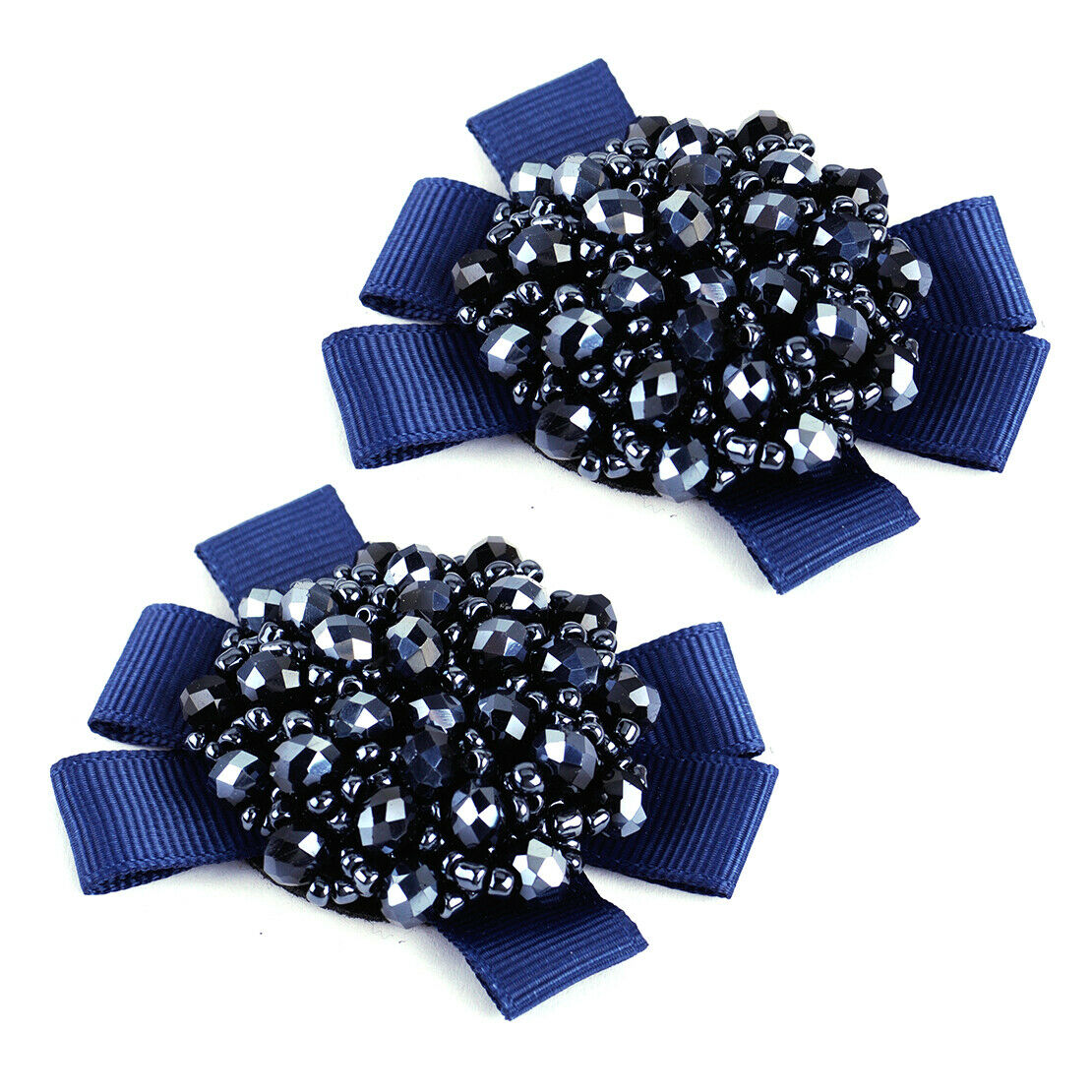 1 Pair Crystal Beads Bows Boot Shoe Clips Women Kids Girls Sandal Accessories ym
