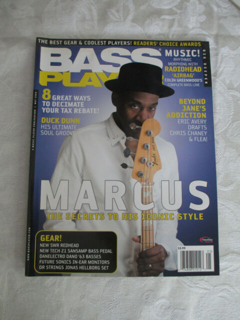 BASS PLAYER - MAY 2008 - GUITAR MAGAZINE - MARCUS MILLER