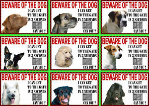 Beware-Of-The-Dog-Sign-Gate-in-3-Seconds-Various-Breeds-Set-C