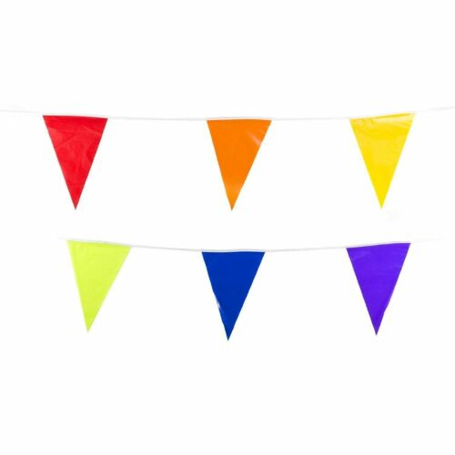 100 Foot Birthday Party Pennant Banner Colorful Fun Decorations Circus Supplies