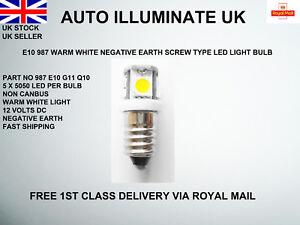 E10-987-LED-Car-Bulbs-MES-Warm-White-Lamps-Instrument-Smiths-Gauges-Panel-12v-UK