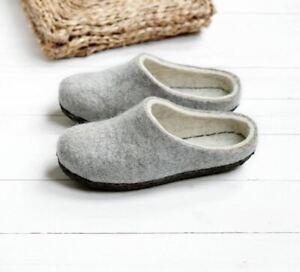 Chaussures écologiques en laine bouillie, sabots pour femmes, pantoufles hygge
