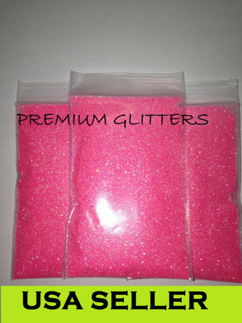 Pink Florescent Iridescent Extra Fine 0.008 Glitters Powder Dust Nail Loose Lot