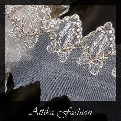 Scallop Lace Trim *per yard* *Very wide* Anastasia -