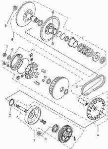 image is loading yamaha-660-grizzly-secondary-clutch-assembly-yamaha-rhino-