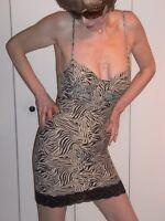 Wild Animal Zebra Bodyshaper Minidress Clubwear Slip S