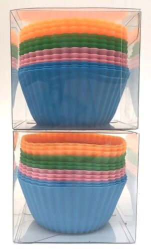 24 Pcs 24 Silicone Baking Cups Nonstick Muffin Cup Cupcake Mold Liners Set