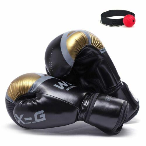 Boxing Gloves Smooth Karate Mitten Adults Kids Kick Box Training Equipment