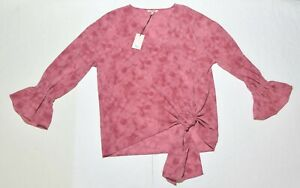 Woman's JUICY COUTURE Pink Blouse Top Shirt Long Sleeve Size Medium M NWT