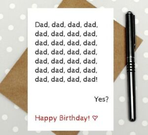 Image Is Loading Dad Card Funny Birthday For Cute