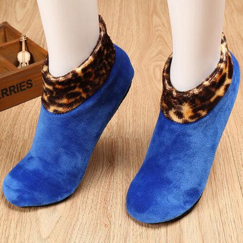 Winter Men Women Warm Thicken Bed Sock Non Slip Elastic Floor Socks Slipper Soft