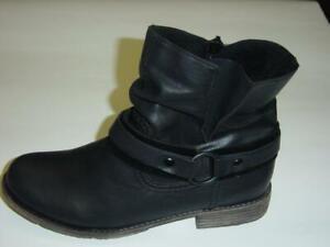 Details zu Rieker Stiefel Stiefeletten | schwarz | Leichtfutter | Reißverschluss | 39 41