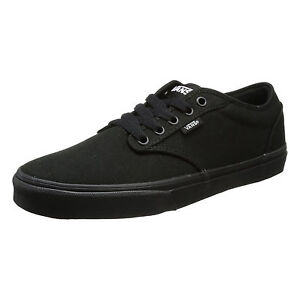 297cc1917f92 VANS Atwood Mens Canvas Skater Trainers Plain Shoes Lace Up ...