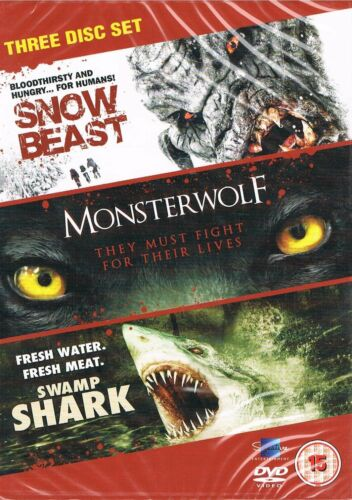 1 of 1 - Creature Feature Collection Snow Beast Monsterwolf Swamp Shark Region 4 DVD New