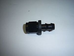 1/4 HOSE BARB TO 4AN FEMALE RUBBER FUEL HOSE ADAPTER BLACK