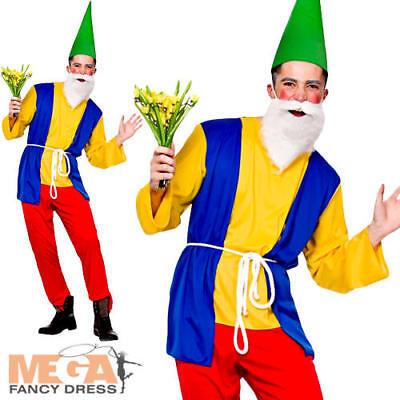 Adult Garden Gnome Dwarf Costume Smurf Men Couples Fancy Dress Retro