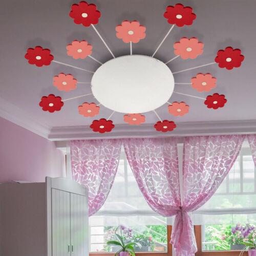 RGB DEL Fleurs Plafonnier filles salle de jeux Télécommande Couleur Changeante Lampe