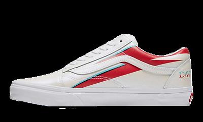 Vans x David Bowie Aladdin Sane Old Skool trainers in white