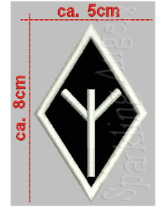 Elhaz guerra rune ricamate patch larghezza circa 5cm di altezza circa 8cm