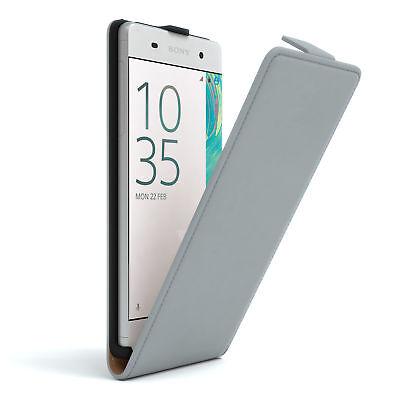 Tasche für Sony Xperia XA Flip Case Schutz Hülle Cover Etui Hellgrau