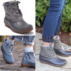 Sperry Syren Gulf Quilt Duck Boot Grey