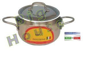 Casseruola-Acciaio-Inox-Sugo-Pasta-Brodo-Bollire-Stufato-Induzione-Verdure