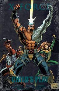 X-Force-Child-039-s-Play-by-Fabian-Nicieza-Jim-Krue-Hardcover-Marvel-Graphic-Novel