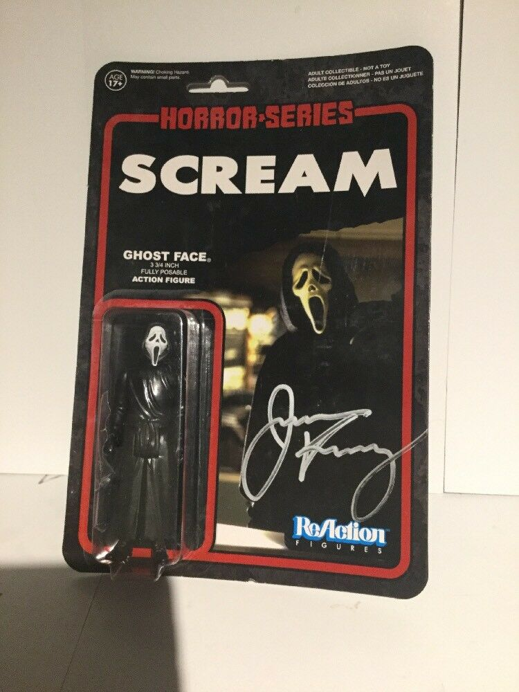 Funko ReAction Scream Ghost Face Figure Signed in Person by Jamie Kennedy w/COA