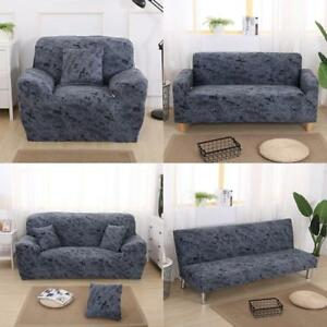 easy stretch elastic sofa slipcover couch cover 1 2 3 seater dark