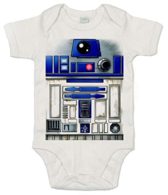 "Star Wars Bodysuit ""R2D2 Robot"" Funny Cute Babygrow Baby Boy Girl"