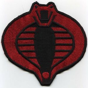 GI-Joe-Cobra-Commander-Small-3-034-Red-amp-Black-Fully-Embroidered-Iron-on-Patch