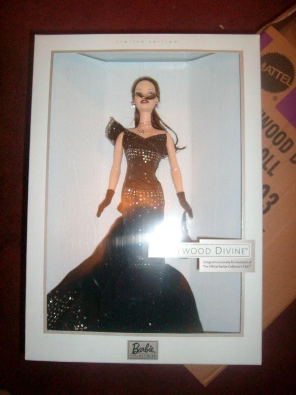 Hollywood Divina Barbie 2003 ex Fan Club Morena difícil de encontrar