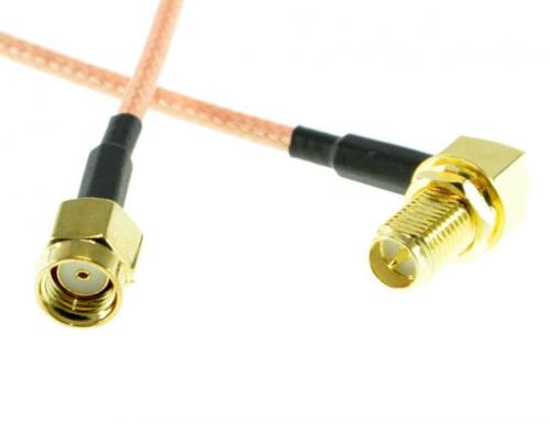 10cm RPSMA Plug to Right Angle RPSMA Jack Cable PA1273 AT-FPV-006