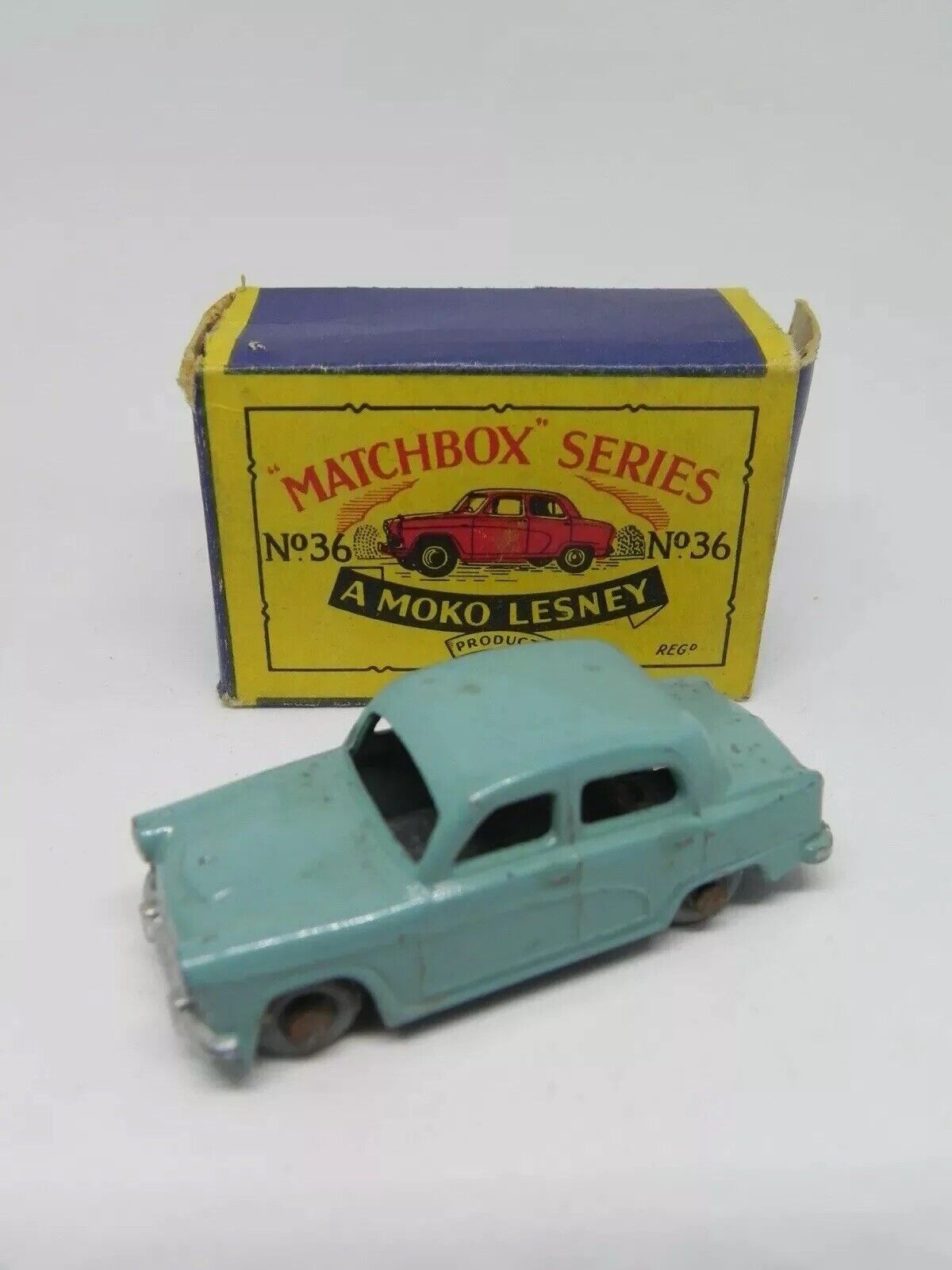 Matchbox Lesley Regular Wheels No. 36a AUSTIN A50 Boxed