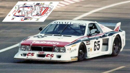 Calcas Lancia Beta Montecarlo Le Mans 1982 65 1:32 1:43 1:24 1:18 slot decals