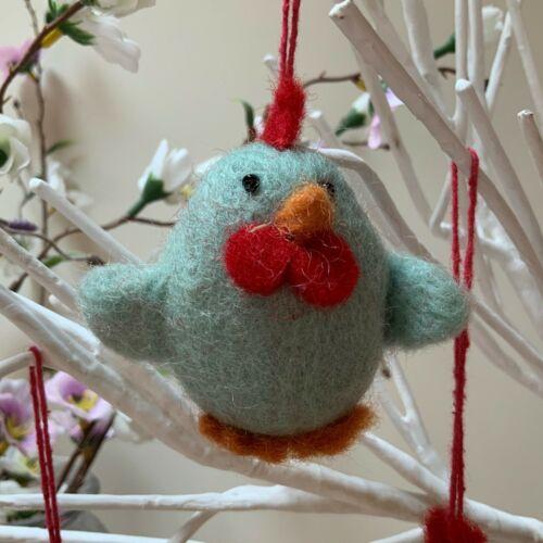 Fairtrade Felt Easter Chicken Decoration Tree Chick Fun Novelty Gift