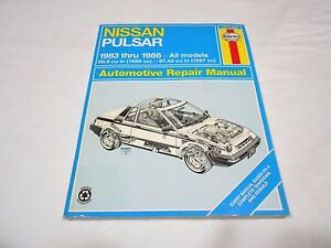 1983 1986 nissan pulsar all models automotive repair manual haynes rh ebay co uk Yamaha Service Manuals PDF 12H802 Manual