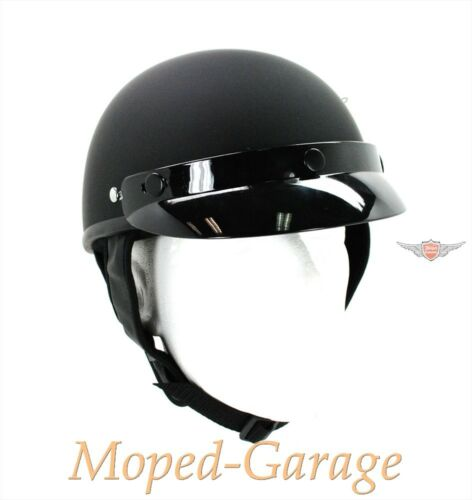MOTO MOTORINO CICLOMOTORE Roller Classic Chopper Police CASCO NERO OPACO TG S