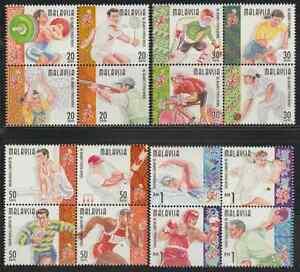 226Me-MALAYSIA-1998-KUALA-LUMPUR-039-98-COMMONWEALTH-GAMES-SET-IN-B-4-FRESH-MNH