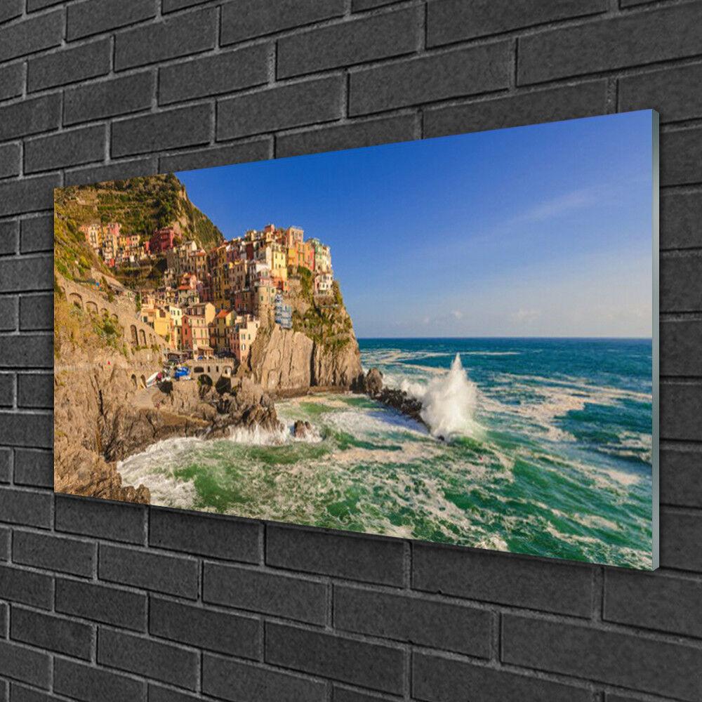 Image sur verre Tableau Impression 100x50 Paysage Mer Montagnes