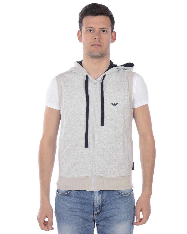 Emporio Armani Sweatshirt Hoodie Man grau 111756 9P571 48 Sz. M PUT OFFER
