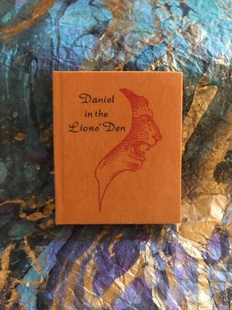 Daniel in the Lion's Den Juniper Von Phitzer Press Signed Ltd HC Miniature Book