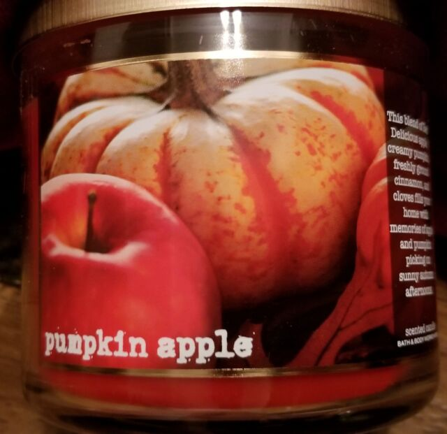 Bath /& Body Works Pumpkin Apple 3-Wick Candle 14.5 oz