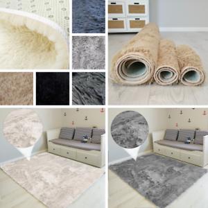 Teppich-Hochflor-Shaggy-Flokati-Langflor-Laeufer-Fussmatte-Weich-Groessen-und-Farben