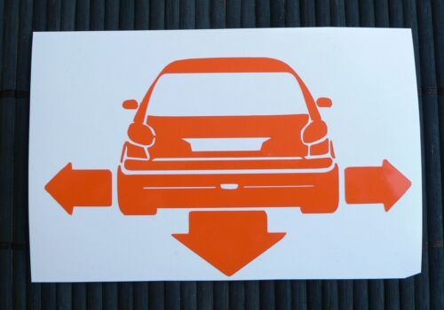 adesivo Peugeot 206 rc cc sticker decal vynil vetro auto car down and out /'n/'
