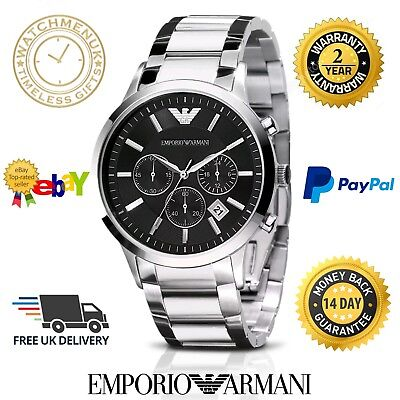 Emporio Armani Men's AR2434 Chronograph Stainless Steel