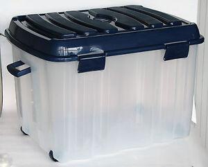 xxl profi rollenbox 142 liter mit deckel aufbewahrungsbox kunststoff box pls536v ebay. Black Bedroom Furniture Sets. Home Design Ideas