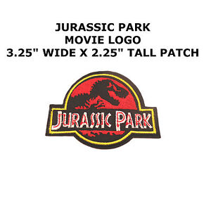 Jurassic-Park-Movie-Ranger-Logo-3-25-034-Embroidered-Iron-Sew-On-Patch-US-Seller