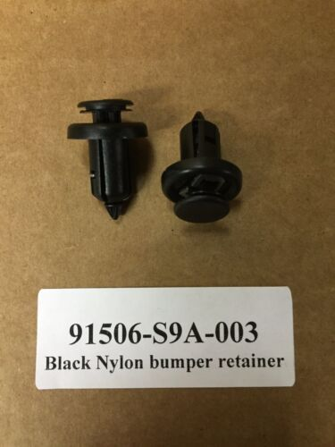Nylon Bumper Retainer Clips For Honda /& Acura # 91506-S9A-003 Set of 20
